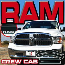 Ram 1500 Crew Cab 2009-2017 Side Window Visor Sun Rain Deflector Door Vent Shade
