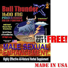 Bull Thunder® X2™ - Sexual Enhancement Pills 1600MG - Super Rock Hard Erections