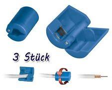 3x Aislante para cable coaxial 8,2-mm de antena conector-F Sat Herramienta TV