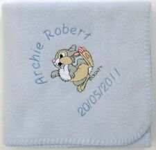 Thumper Baby Blanket Fleece ~ Personalised  also Bambi!