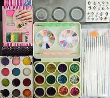 Nail Art Kit #10. Complete set for Birthday gift Girls Women. Beads. Stamping.