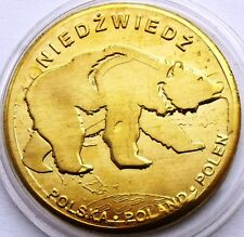 POLAND TATRY TATRA MOUNTAINS - MORSKIE OKO LAKE ANIMAL BEAR 31mm COIN IN CAPSULE