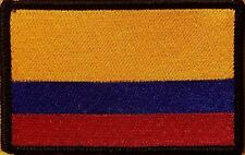 COLOMBIA Flag Patch With VELCRO® Brand Fastener Black  Border
