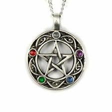 "Pentacle of Life Wiccan Pagan Gothic Celtic Pentagram Pendant Necklace 20"" Chain"