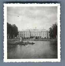 Russie, Environs de Saint-Pétersbourg, Palais de Peterhof  Vintage silver print.