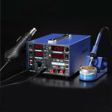 853D 2A SMD Rework Solder Station 3in1 Digital Electronic Hot Air Heat Gun 220V