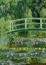 Framed Print - Monet Water Lilies and Japanese Bridge (Picture Poster Painting)