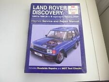 haynes land rover discovery manual 1989 to 1998 petrol and diesel