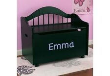 Kidkraft 14181-PZ Kids Personalized Limited Edition Wood Toy Box Bench Black NEW
