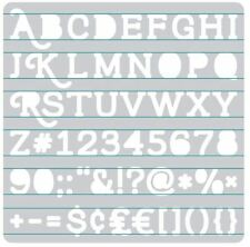 We R Memory Keepers  Accessory ~ HEATWAVE STENCIL ~ SERIF Alphabet ~662662