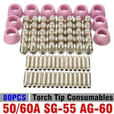 New 50/60A SG-55 AG-60 Plasma Cutter Torch Tip Consumables 80pcs