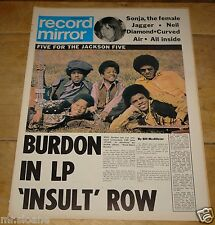 RECORD MIRROR 30 JAN 1971 JACKSON FIVE SABBATH SONJA KRISTINA GENE VINCENT
