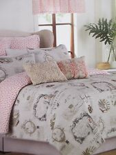 New Raymond Waites PARADISE Tropical Birds Postcard Quilted Coverlet - Twin