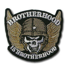 Brotherhood Skull Wing Harley Chopper Biker Rider Motorcycle Vest Patch Iron on