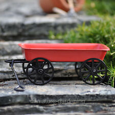 Miniature Fairy Garden Little Red Wagon