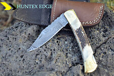 AUSSIE Hand Made Damascus Steel Hunting Folding knife *** PUMA ***
