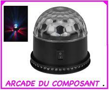 JEU DE LUMIERE DOUBLE EFFET BOULE DISCO A LED (ref 89943-1)