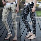 Mens Winter Warm Thermal Long Johns Pants Pattern Bottoms Underwear M-XL J63