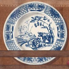 Delft Blue China Dishes - Wood Plate Rail - ONLY $9 - Wallpaper Border B032
