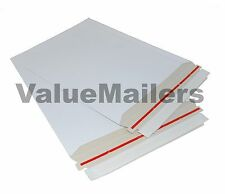 100 6x8 RIGID PHOTO DOCUMENT CARD MAILERS ENVELOPES STAY FLATS 100% RECYCLABLE