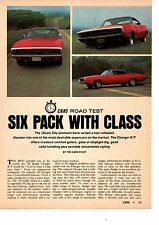 1970 DODGE CHARGER R/T 440-6  ~  ORIGINAL 4-PAGE ROAD TEST / ARTICLE / AD