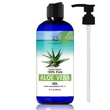 Aloe Vera Gel for Face Body & Hair - 100% Pure & Natural Certified Organic an...