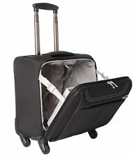 "17"" Laptop 4 Wheel Spinner Trolley Office Business Briefcase Cabin Travel Bag"