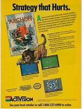 Vtg. 1991 Nintendo NES Activision ARCHON strategy video game print ad page