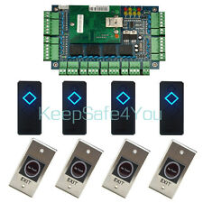 4 Door Access Controller Network Board Full System with 4 reader & 4 exit button