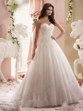 Strapless Ball Gown Lace Lucien  115241 by David Tutera Ivory Size 12 New