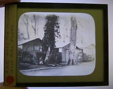 ARC American Red Cross Huts, TOURS France WWI World War I Magic Lantern Slide