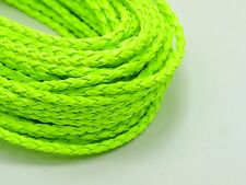 32.8 Feet Neon Green BOLO Braided Leatheroid String Jewelry Cord 3mm
