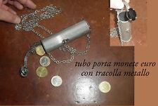 portamonete  tubo con tracolla e pietre  oggetto fichissimo porta monete ottone