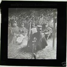 Glass Magic lantern slide RUSSO JAPANESE WAR - JAPANESE SOLDIERS SITTING DOWN