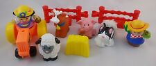 Fisher Price Little People Farmer Eddie Sonya Farm Animals Red Fence Tractor Lot