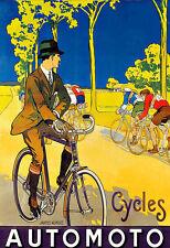 Art ad ciclos Automoto Motos Bicicleta Moto Ciclo Deco Auto cartel impresión