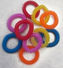 Mosquito Repellent Bracelets - Pack of 10. Insect Protection Bands. Deet Free.