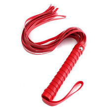 SM Sex Toy PU Leather Whip Flogger Nine Tail Alternative Handle Tawse Adult