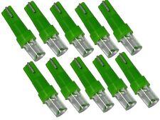 Lot de 10 ampoules T5 12V à LED vertes pour tableau de bord auto voiture