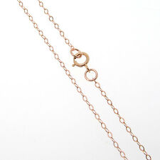 16 Inch Rose Gold Filled Cable Chain Necklace W/ Spring Clasp