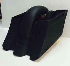 "Stretched 6"" Down And Out Saddlebags And Rear Fender Harley Bagger 09-13 Flh"