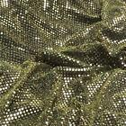 GOLD on BLACK 6mm Sequin fabric shiny sparkly material sold by metre fancy dress