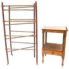 19th/20th C. washstand and drying rack, two pieces: flat top washstan. Lot 217