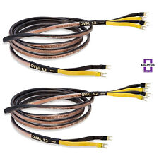 Analysis Plus Bi-Wire Black Oval 12 Bi-Wired Speaker Cable Stereo Pair 10 ft