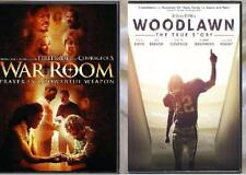 2 DVD -War Room (DVD 2015) and Woodlawn (DVD 2016) Great Inspirational Movies!