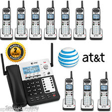 AT&T SYNJ Corded SB67138 w 10 Cordless SB67108 Handsets DECT Phone System 4 Line