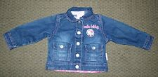 Little Girls Hello Kitty Denim Jean Jacket Size 18 Months