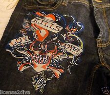 ED HARDY BY: CHRISTIAN AUDIGIER! PRE-OWNED! MINT! SIZE 25 WITH 1% SPANDEX! NICE!
