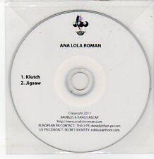(DQ595) Ana Lola Roman, Klutch / Jigsaw - 2011 DJ CD