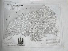 76 Seine Maritime gravure carte géographique Monin 1835 (c11-11)